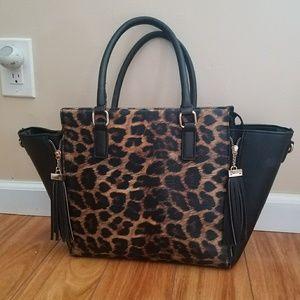 Cheetah Print Leather Purse